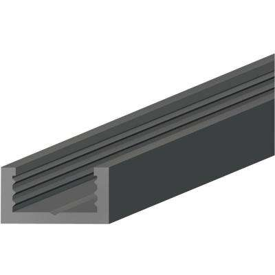 Black 0.25 in. Thick x 0.56 in. Wide x 96 in. Length Plastic Molding Track