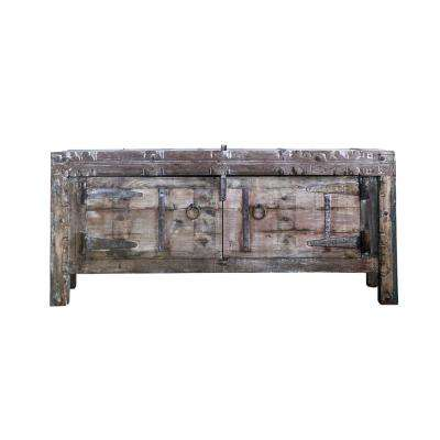 Terrain Wood Console Table with Shelves