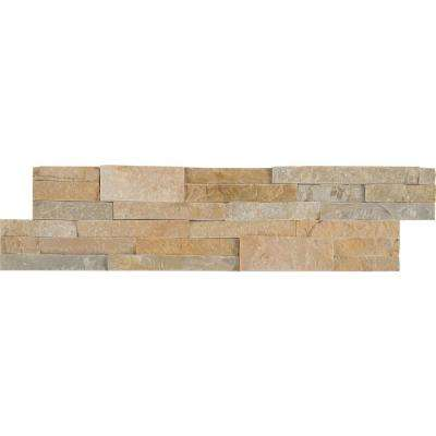Golden Honey Ledger Panel 6 in. x 24 in. Natural Slate Wall Tile (1 sq. ft.)