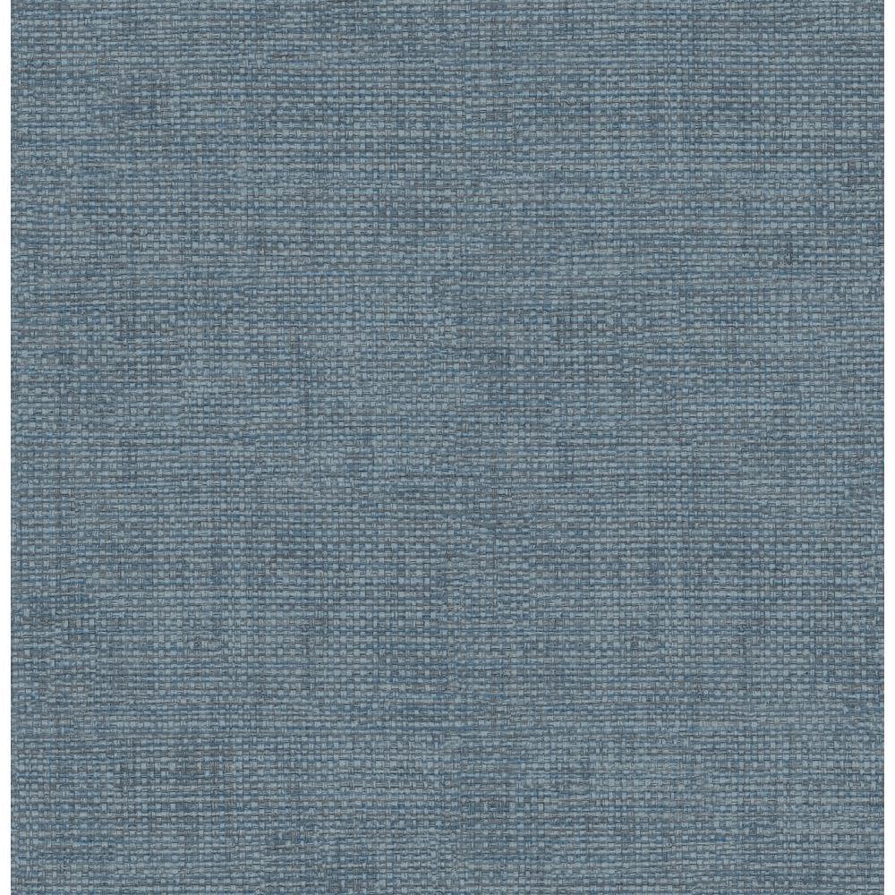 8 in. x 10 in. Twine Blue Grass Weave Wallpaper Sample