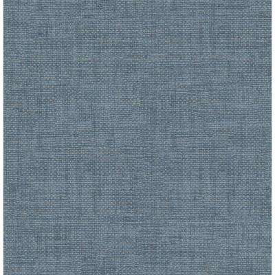 Brewster Twine Blue Grass Weave Strippable Wallpaper (Covers 56.4 sq. ft.)
