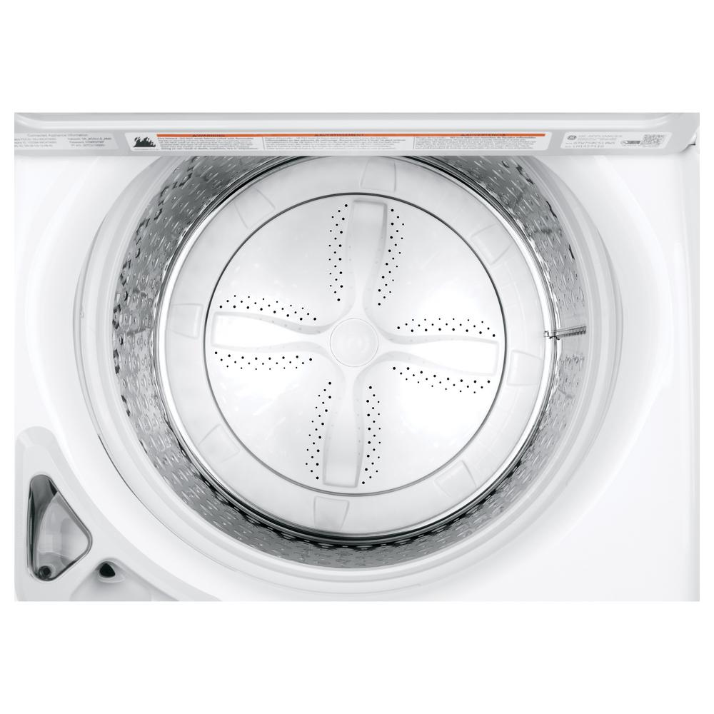 Ge 5 0 Cu Ft High Efficiency White Top Load Washing Machine With Smartdispense And Wi Fi Connected Energy Star