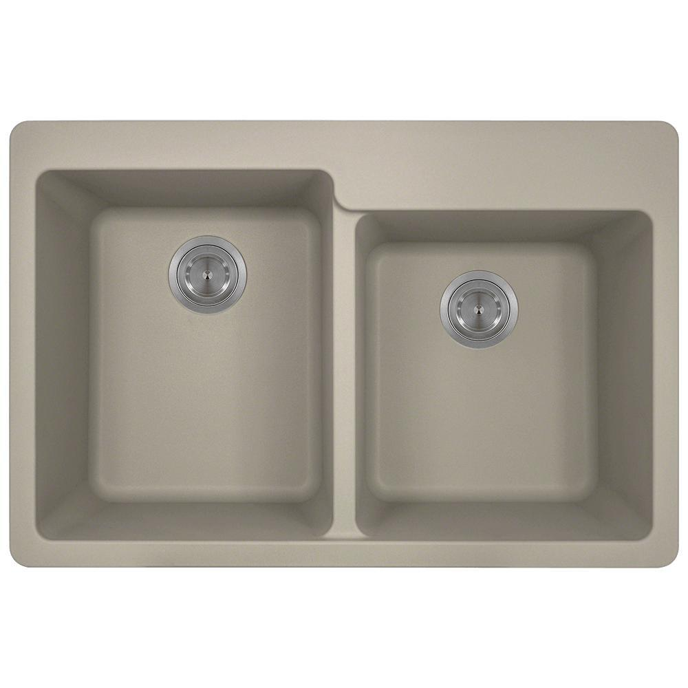 kitchen sinks direct mr direct drop in granite composite 33 in 3 offset 3004