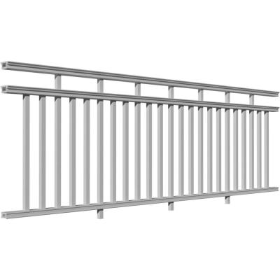120 in. x 42 in. PVC Providence 3-Line Level Rail Kit with Reinforcements