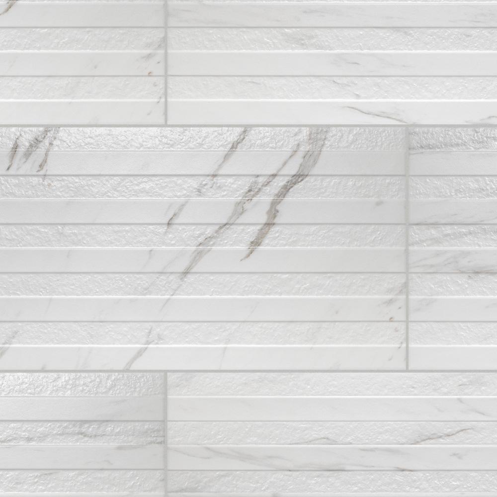 Merola Tile Eterno Carrara Line 12-7/8 in. x 25-5/8 in. Porcelain Wall Tile (11.79 sq. ft. / case)