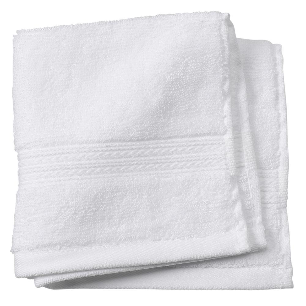 Newport 1-Piece Face Towel in White