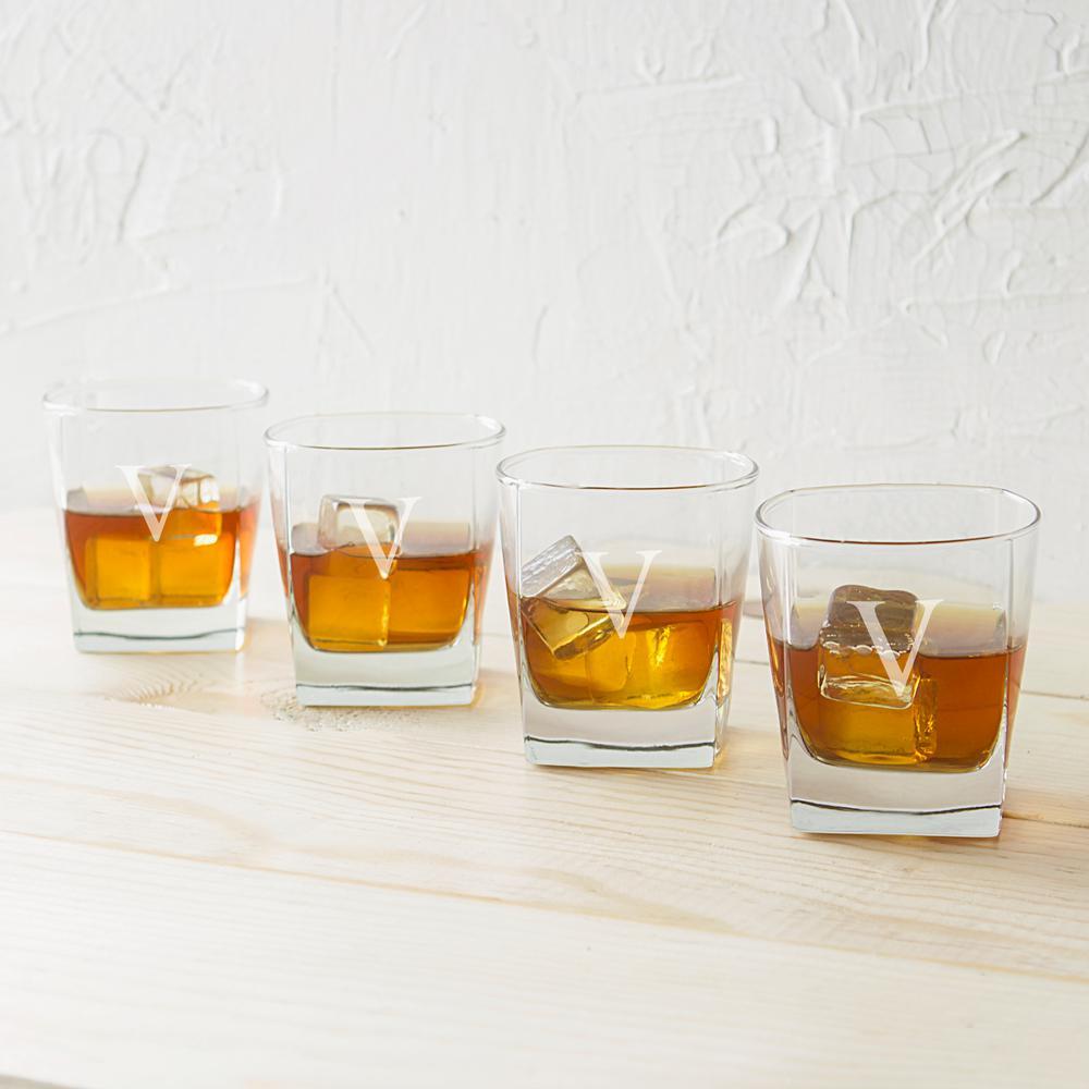 Rocks Glasses - V (Set of 4)