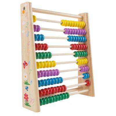Abacus Classic Wooden Educational Counting Toy with 100 Beads