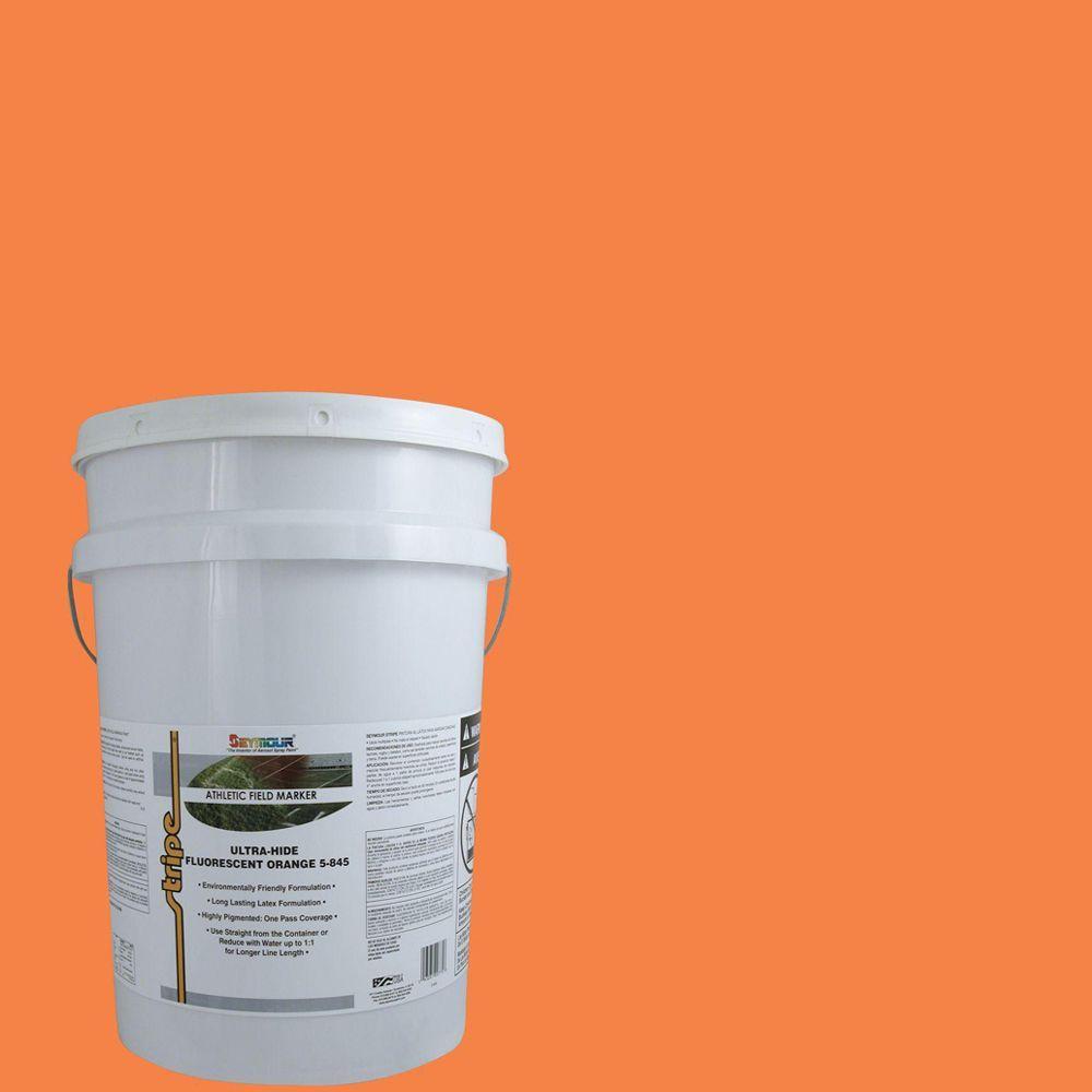 Seymour Manufacturing 5 gal. Fluorescent Orange Stripe Bu...