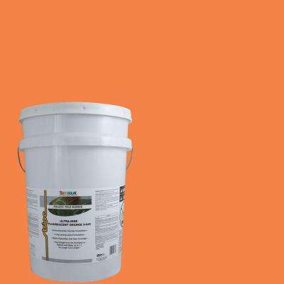 5 gal. Fluorescent Orange Stripe Bulk Athletic Field Marking Paint