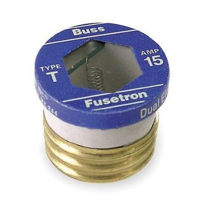 cooper bussmann 15 amp plug fuse adapter sa 15 the home depot  old house rejection base fuse box #14