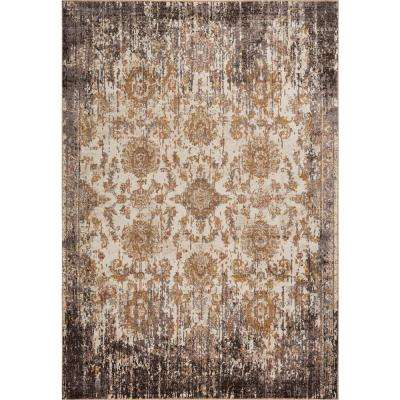 Manor Ivory/Taupe 4 ft. x 6 ft. Empire Area Rug