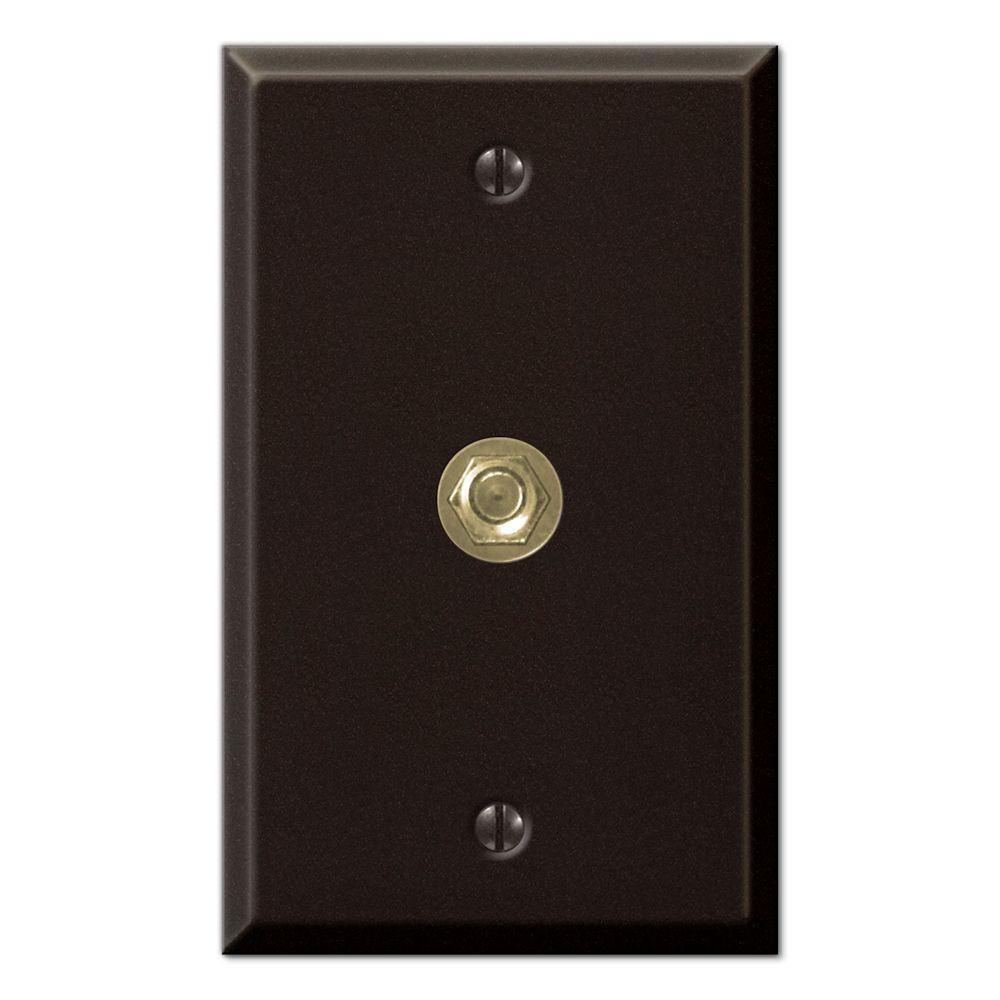 Creative Accents Steel 1 Video Wall Plate - Antique Bronze