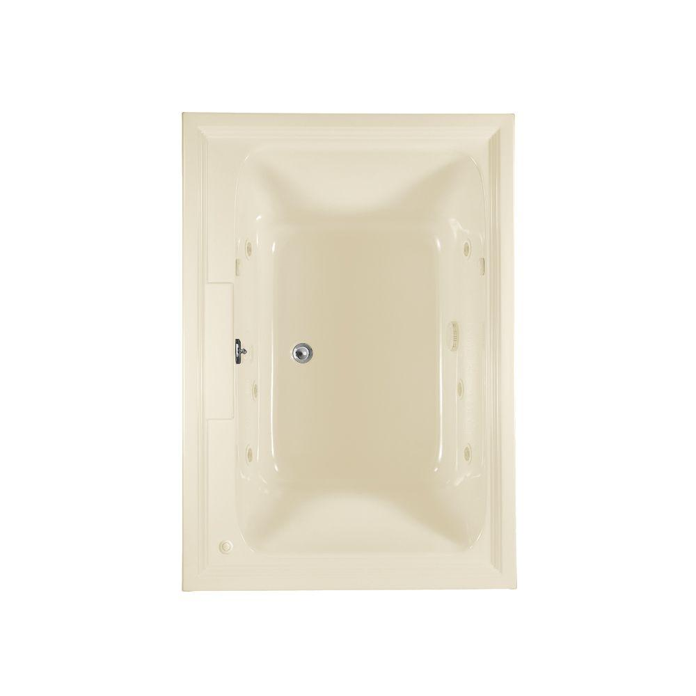 American Standard Town Square 6 ft. EverClean Whirlpool Tub with Reversible Drain in Linen-DISCONTINUED