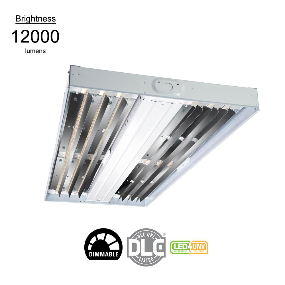 75-Watt White Enamel Integrated LED High Bay Light 5000K CCT with