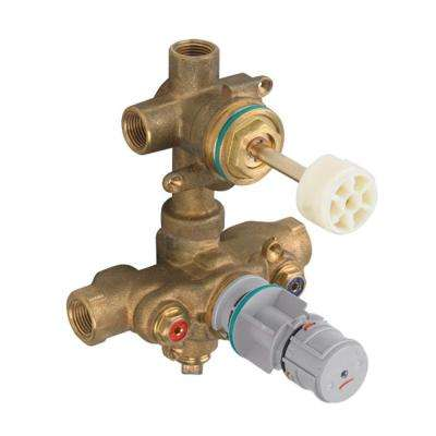 Thermostatic 3-Way Diverter 1/2 in. Rough Valve Body for 2-Handle Trim