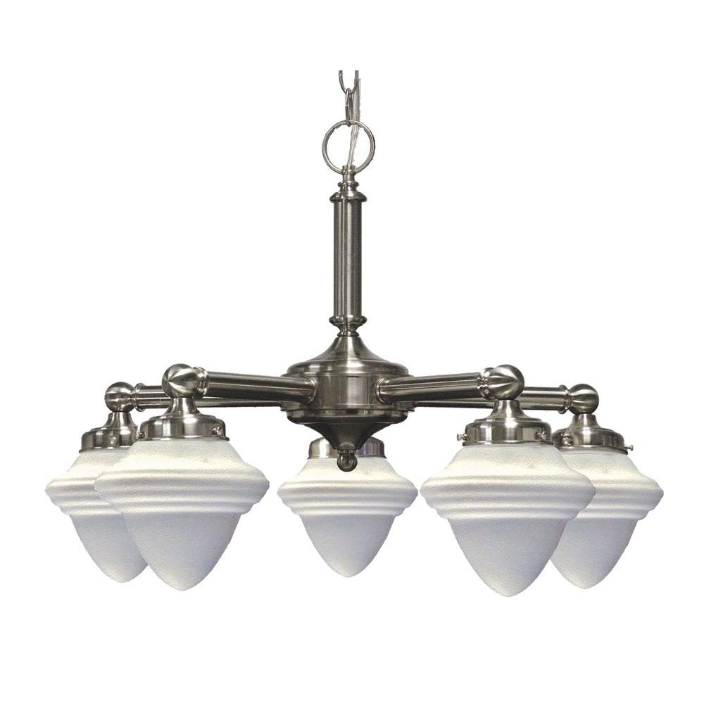 Marquis Lighting 5-Light Satin Chrome Chandelier