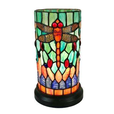 10.5 in. Tiffany Style Multicolored Accent Table Lamp