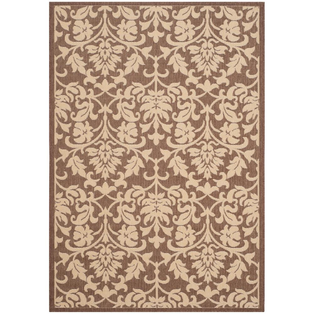 Courtyard Chocolate/Natural 6 ft. 7 in. x 9 ft. 6 in.