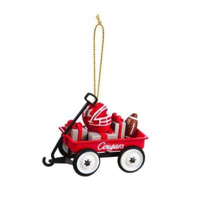 Washington State University 1-3/4 in. NCAA Team Wagon Christmas Ornament