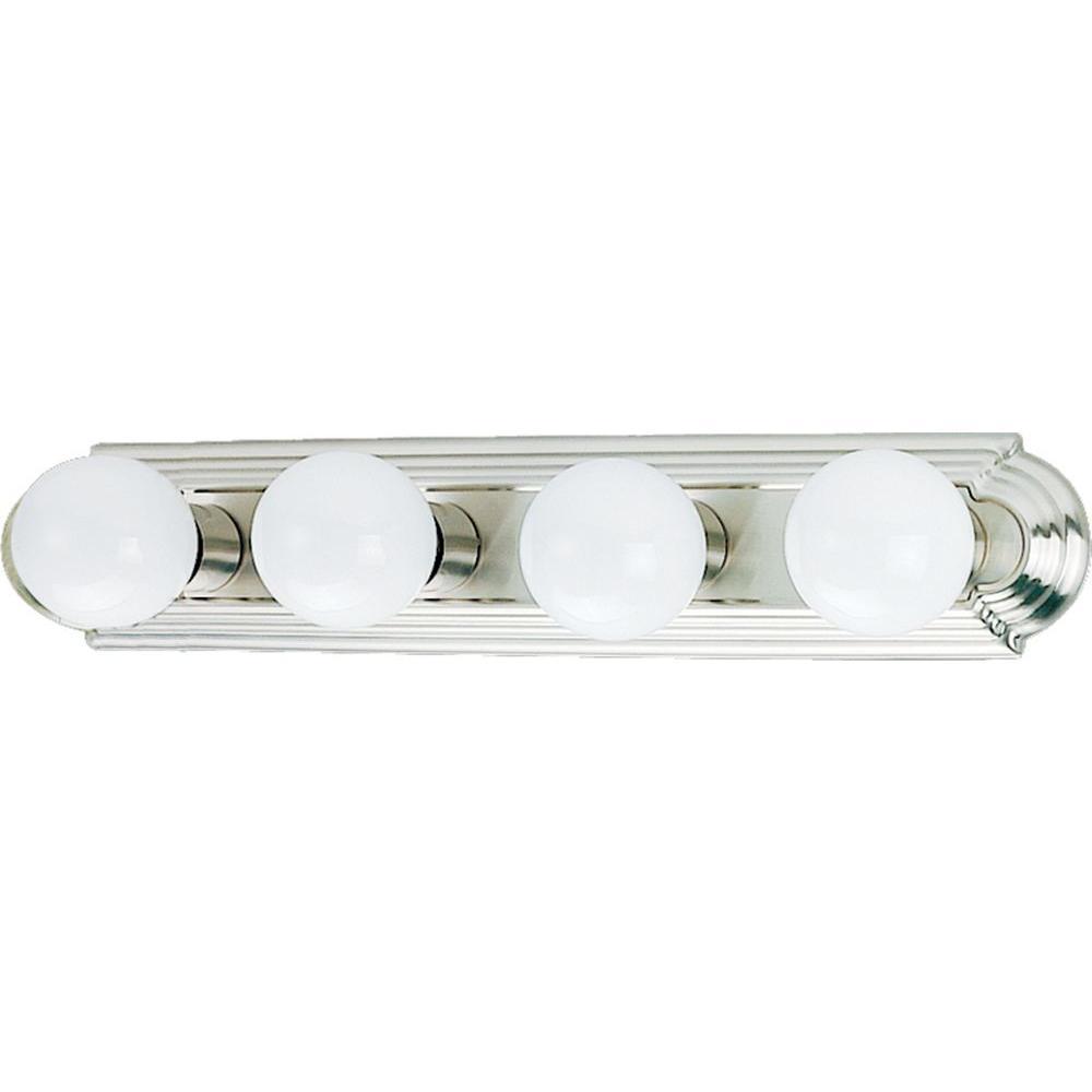 4-Light Brushed Nickel Bath and Vanity Light