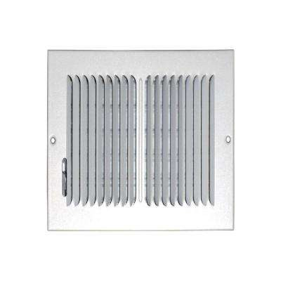 8 in. x 8 in. Ceiling/Sidewall Vent Register, White with 2-Way Deflection