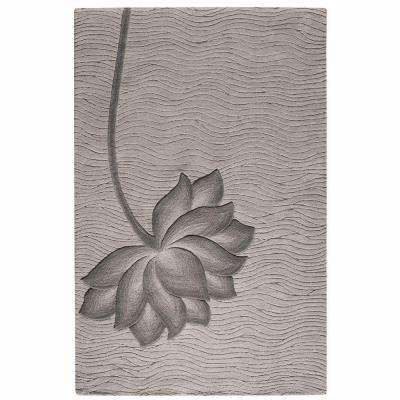 Blooms Gray and Gray 8 ft. x 11 ft. Area Rug