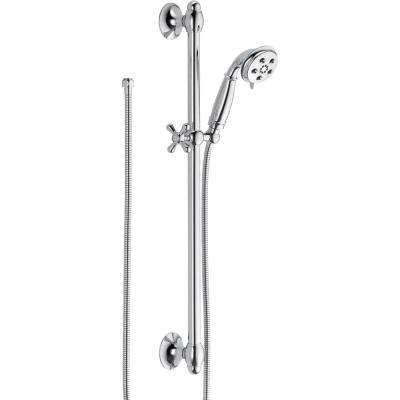 3-Spray 2.0 GPM Hand Shower with Slide Bar in Chrome Featuring H2Okinetic