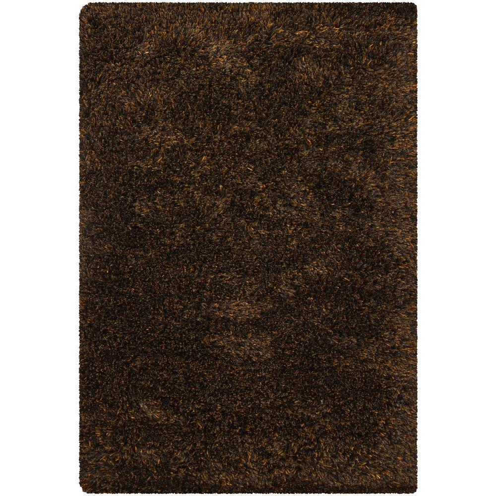 Chandra Tulip Brown/Black 5 ft. x 7 ft. 6 in. Indoor Area Rug