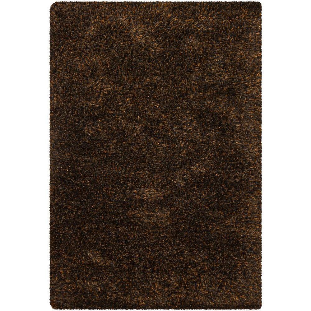 Chandra Tulip Brown/Black 7 ft. 9 in. x 10 ft. 6 in. Indoor Area Rug