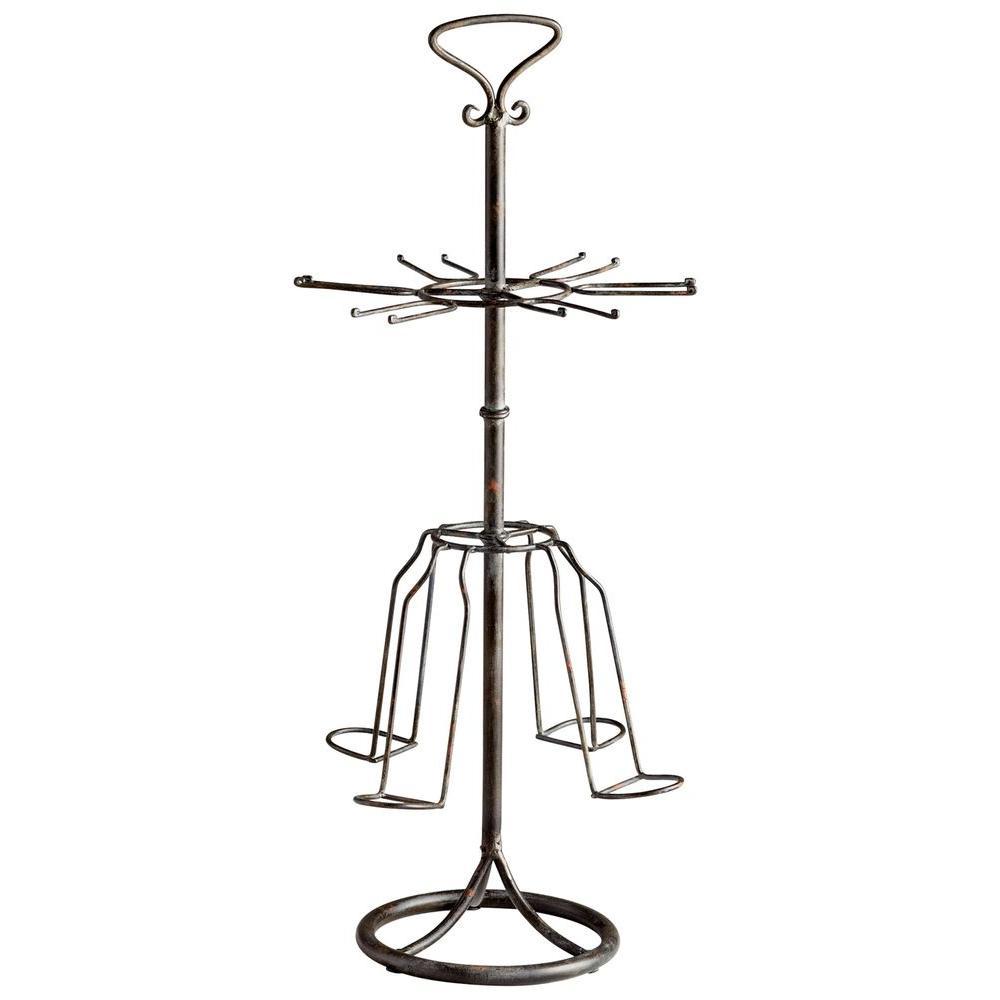 Filament Design Prospect 29.5 in. x 13 in. Iron Wine Rack