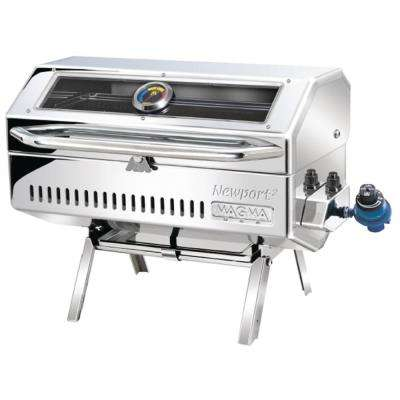 Portable Newport 2 Gourmet Series Infrared Propane Gas Barbecue Grill in Stainless Steel