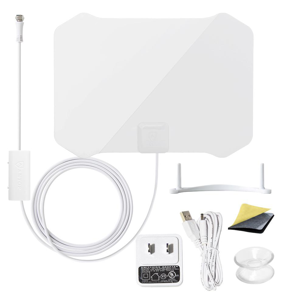 Paper Thin Antenna Smartpass Amplified TV Antenna with Built-In 4G LTE
