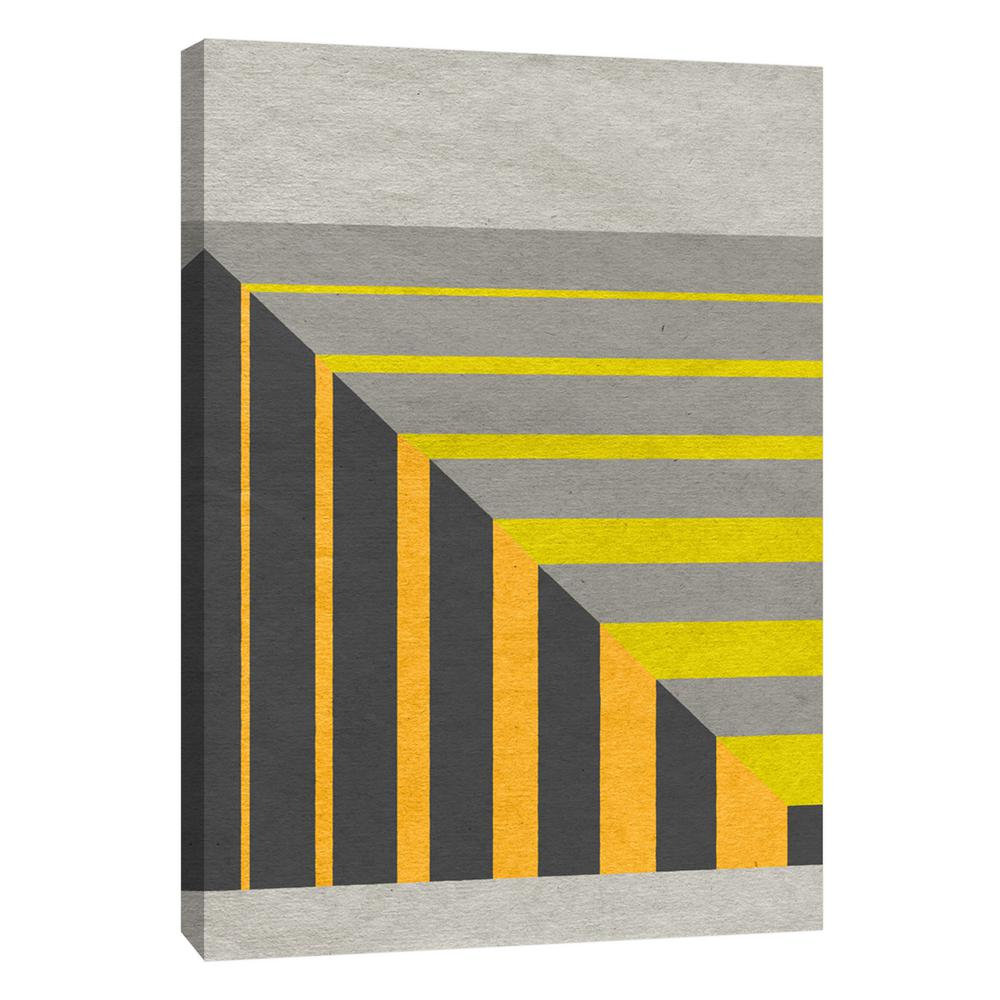 PTM Images 12.in x 10.in \'\'Linen Geometrics G\'\' Printed Canvas Wall ...