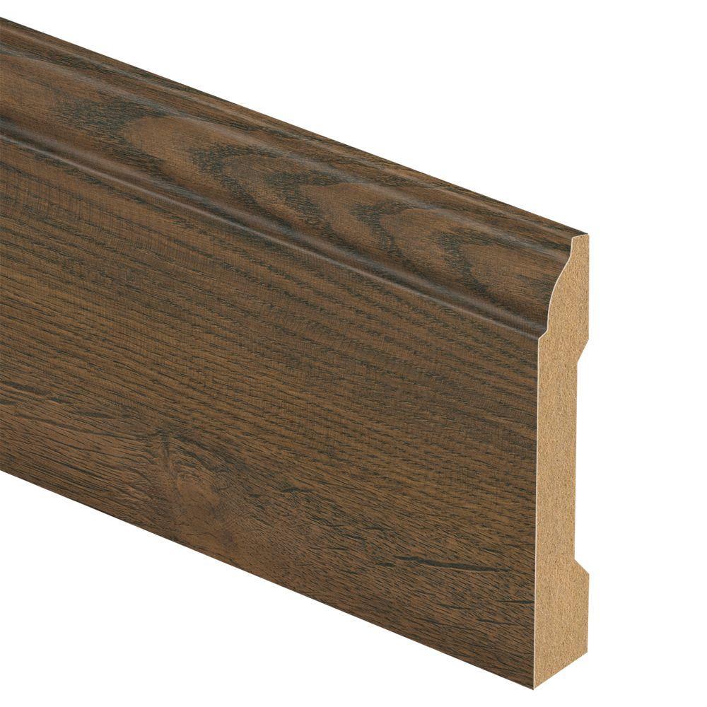 Zamma Cotton Valley Oak/Holland Oak 9/16 in. Thick x 3-1/4 in. Wide x 94 in. Length Laminate Wall Base Molding