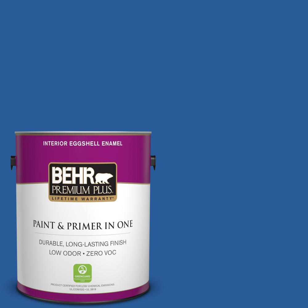 BEHR Premium Plus 1-gal. #P510-7 Beacon Blue Eggshell Enamel Interior Paint