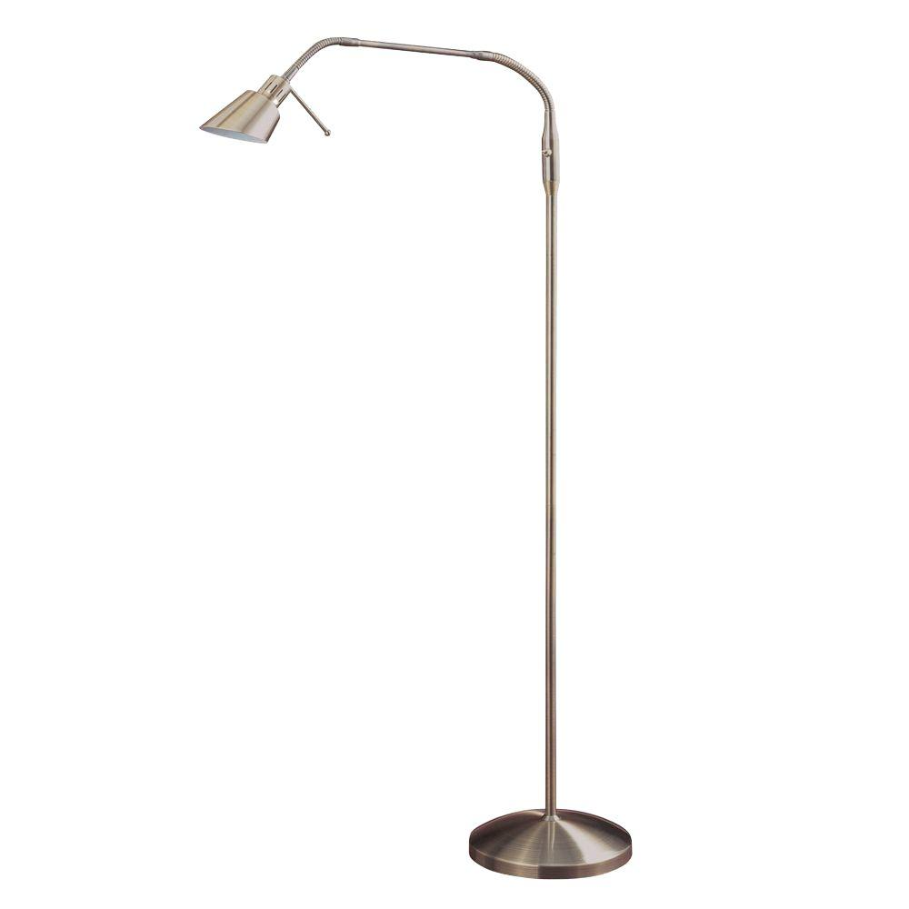 Halogen floor lamps lamps the home depot antique brass halogen floor lamp aloadofball Images