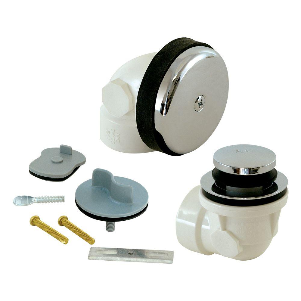 1-1/2 in. Sch. 40 PVC 2-Hole Bath Waste with Test Kit