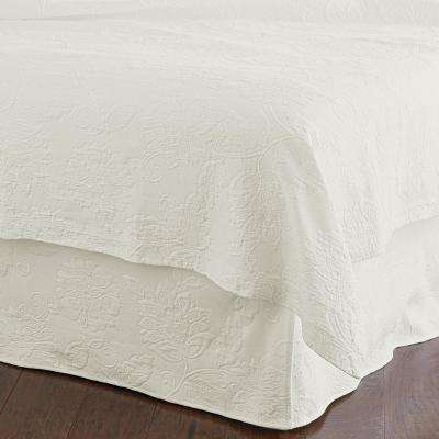 Putnam Matelasse Ivory Twin Bed Skirt