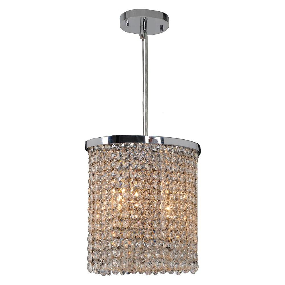 Worldwide Lighting Prism Collection 2-Light Chrome Chandelier