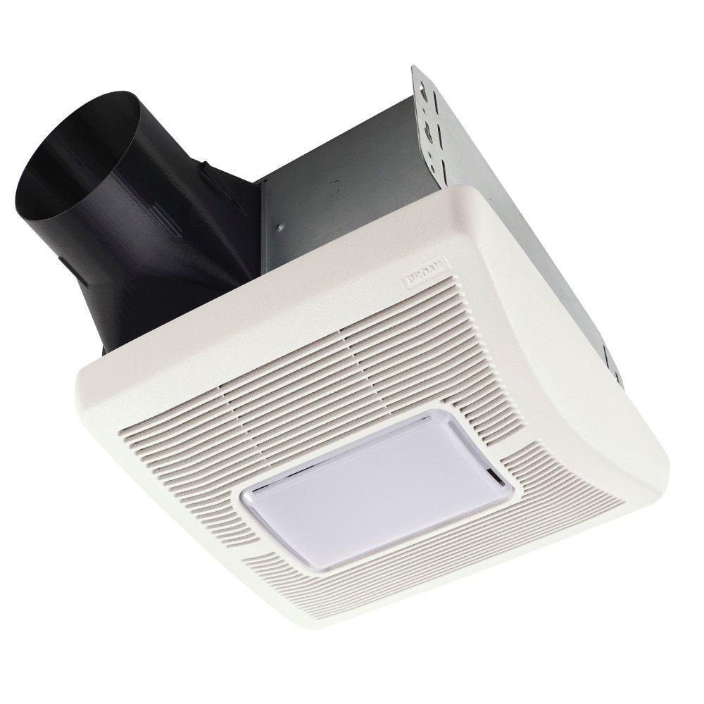Bathroom Fans With Heaters: 70 CFM Ceiling Exhaust Fan With Light And 1300-Watt Heater