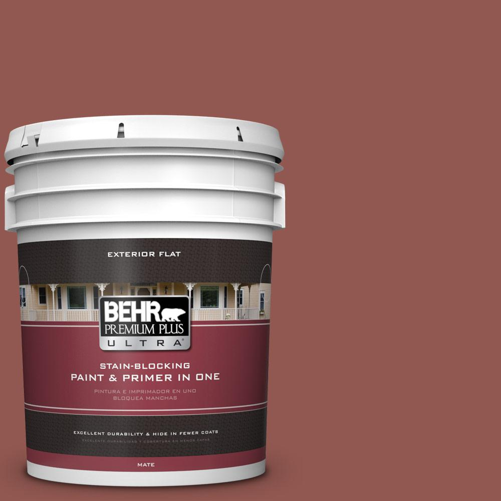 5 gal. #MQ1-21 Rich Brocade Flat Exterior Paint and Primer in