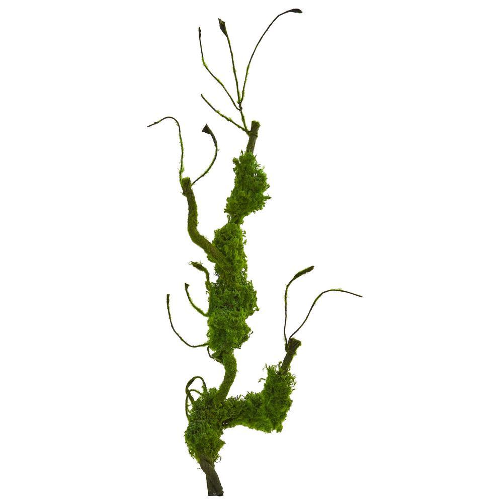 Indoor 25 Moss Twig Vine Artificial Plant (Set of 4)