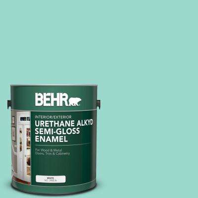 1 gal. #P440-3 Fish Pond Urethane Alkyd Semi-Gloss Enamel Interior/Exterior Paint