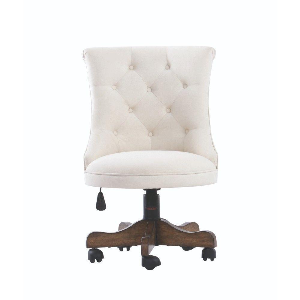 Rebecca Neutral Linen Office Chair