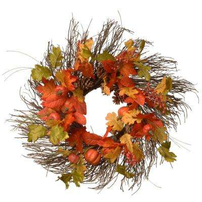 26 in. Maple Leaves Wreath