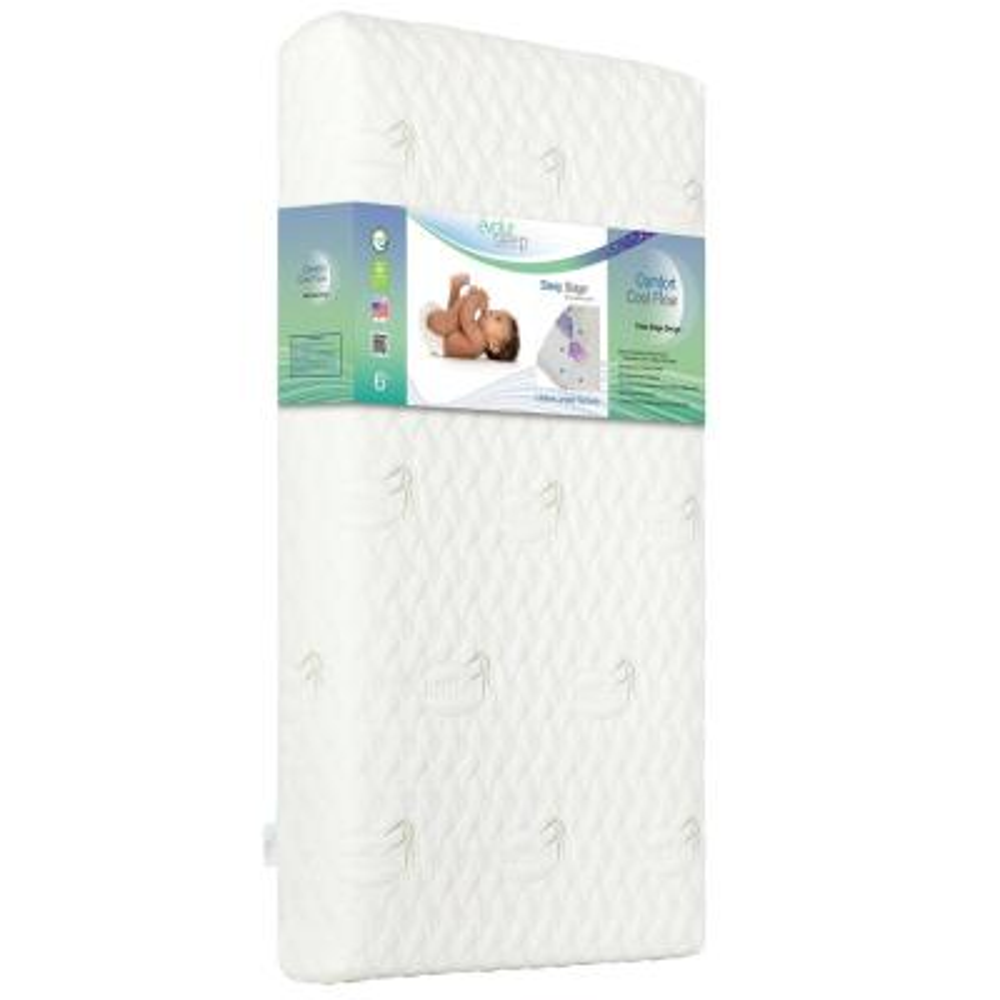 Comfort Cool Flow Foam Crib And Toddler Mattress Waterproof Green Guard Gold Certified Air Flow Memory Foam Bamboo Cover