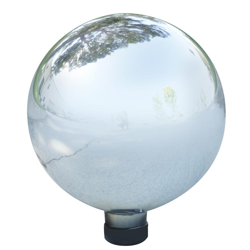 Silver Glass Gazing Globe