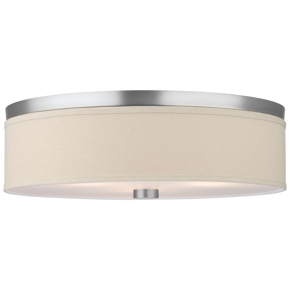 Embarcadero 3-Light Satin Nickel Ceiling Fixture