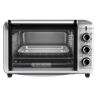 1500 W 6-Slice Stainless Steel Toaster Oven with Built-In Timer